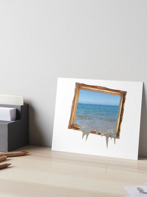 Sea Water Spilling Out of Picture Frame